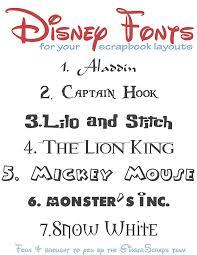 Disney Font Disney Fonts