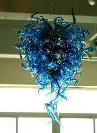 blue hand blown murano art glass chandelier light 50 60 free