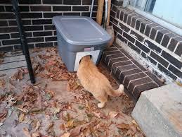 diy outdoor cat house for winter campbellandkellarteam