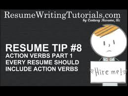 Resume Tips Tip 8 Action Verbs Part 1 Youtube