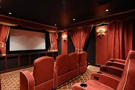 home theater decor television movie displays movie memorabilia
