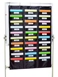 1 Pc Storage Bag Creative 30 Pockets Home School Pocket Chart With 30 Name Tag