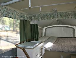 pop up camper makeover the curtains part the pop up princess pop up camper curtains