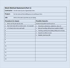 Method Of Statement Sample method of procedure template sample method statement template 100 7