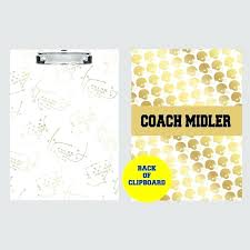 personalized football coach gift gifts clipboard coaches thanks personalized football coach gift gifts
