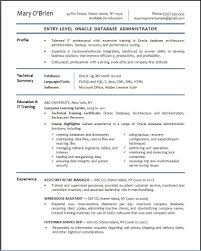 dba sample resume template dba sample resume
