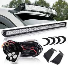 Dodge Ram Led Light Bar Roof Mount 52in 300w Led Light Bar Combo Straight Work Offroad Bar Upper Roof Windshield Mount Bracket 1 Lead Wiring Harness 1x Remote Control Kits For