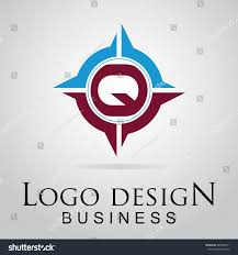 Q letter logo in the cool circle. Vector design template for your business
