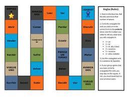 Spanish Er And Ir Preterite Verb Conjugation Board Game