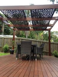 decorative screening on pergola roof | PRIVACY SCREENS BRISBANE  call  today 0430 192 209
