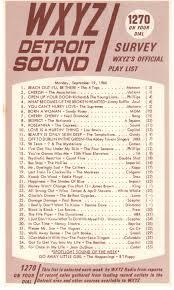Pop Charts 1966 Wxyz Radio September 19 1966 In 2019 Music Charts