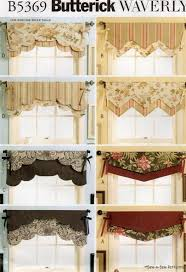 WAVERLY Reversible Valance SEW PATTERN Window Curtain