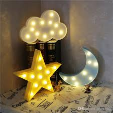 lovely cloud star moon night light led marquee sign warm white led night lamp for baby childrens bedroom