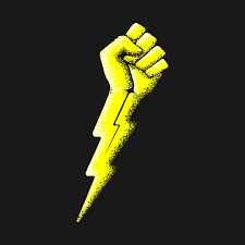 Lightning bolt in fist