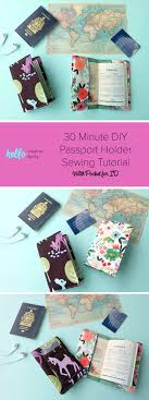 this 30 minute diy passport holder sewing tutorial makes