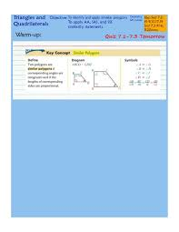 Included angle of the other triangle. 7 2 And 7 3 Similar Polygons And Triangles Pdf