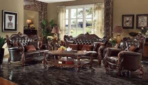 formal leather living room furniture. Popular Formal Leather Living Room Furniture With Versailles  Set In Dark Brown Formal Leather Living Room Furniture R