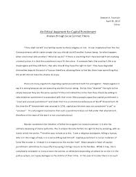 argumentative essay on capital punishment co argumentative