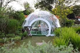 garden dome. There Are A Total Of Three Domes At The Summerhouse With Individual Theme - Bohemian, Scandinavian And Lounge. Each Dome Can Accommodate Up To 8 Diners. Garden L