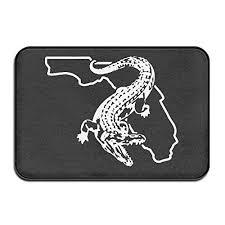 florida gator gators fishing bathroom rugs indoor outdoor entrance doormats door mats