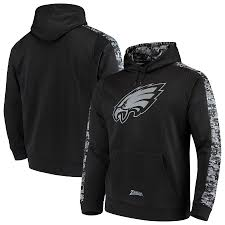 Men's Philadelphia Pullover Eagles Zubaz Black Hoodie Camo Digi