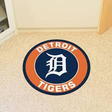 detroit tigers roundel area rug nylon