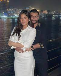 أول ظهور للفنانة هاجر أحمد مع زوجها بعد عقد قرانهما