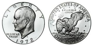 1972 Eisenhower Dollar Value Chart 1972 S Eisenhower Dollar Silver Clad Coin Value Prices