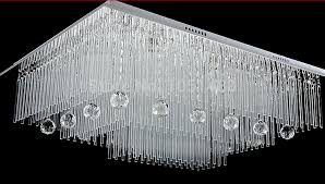 home and furniture spacious square crystal chandelier of new modern lamp remote control living led