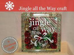 how to make a jingle all the way glass block decorate blocks diy crafts with decorating ideas