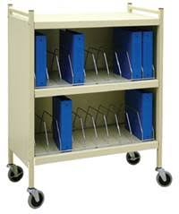 Mobile Chart Rack Mobile Cabinet Style Chart Rack 20 Binder Capacity