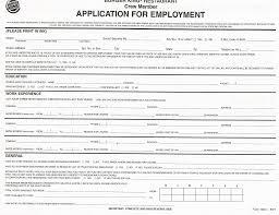 Printable Application Printable Employment Application Form Formal See Job Forms Print 5