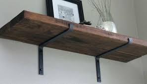 wood shelves with metal brackets wall wood shelves wall mounted
