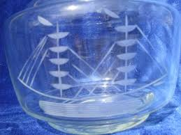 vintage ship s decanter bottle glass w etched ship blown glass stopper