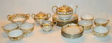 Nippon Patterns 1911 To 1921 Extraordinary ANTIQUE NIPPON Noritake Hand Painted China Tea Set Gold Trim