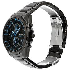 seiko chronograph black dial black pvd stainless steel mens watch zoom seiko seiko chronograph black dial black pvd stainless steel mens watch sndd67
