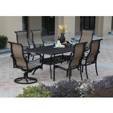 darlee monterey 7 piece sling patio dining set