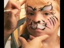 kitty cat face painting design tutorial for