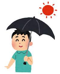 日傘をさす男性のイラスト   かわいいフリー素材集 いらすとや