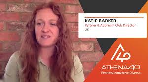 Katie Barker - Athena40 Women Voices of Tenacity - YouTube