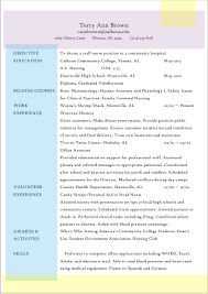 Chronological Resume Template. Nursing Student Resume Template ...