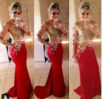 Red and gold dress 2017
