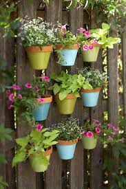 DIY Colorful Vertical Garden On A Fence
