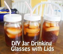 Decorating Mason Jars For Drinking DIY Mason Jar Drinking Glasses With Lids 26