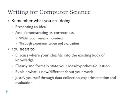tips for writing a paper writing for computer science  clear  3 writing
