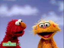 Cookie monster can't get over that she did not bring any cookies. Sesame Street Elmo And Zoe Pretend Youtube