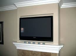 tv mount above fireplace mounting a over fireplace into brick