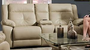 simmons loveseat. simmons upholstery miracle pearl bonded leather double motion console loveseat