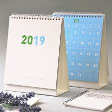 standup desk calendars 2019 hello desk flip calendar