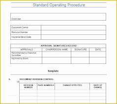 standard operating procedures template word standard operating procedure template free of standard